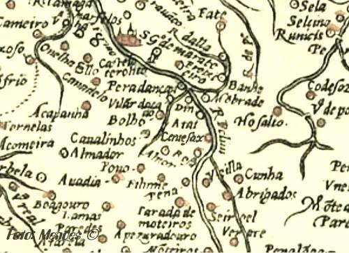 Cerue - Cerva em mapa do sec. XVI