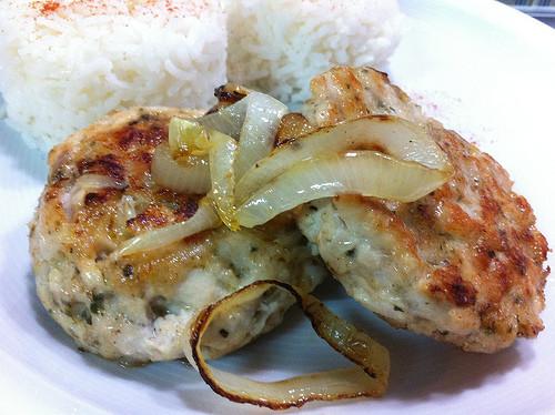 Hamburger de frango aromático