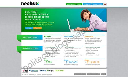 NeoBux - A Inovação em Serviços Paid-To-Click