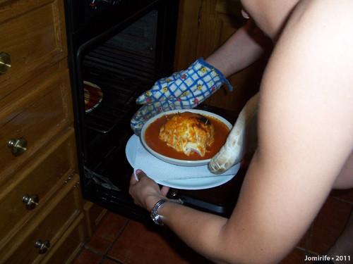 Francesinha em Bragança - Queimada no forno