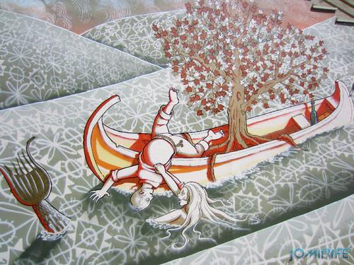Arte Urbana by Mário Belém - Peixe laranja/Imaginário no CAE na Figueira da Foz Portugal - Elemento sereia a puxar pescador (27) [en] Urban art by Mário Belém - Orange Fish/Imaginary in Art Center Figueira da Foz, Portugal