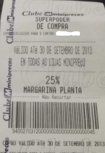 25% em Margarinas Planta - MiniPreço até 30/09