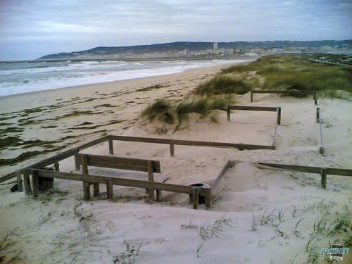 Temporal na praia do Cabedelo - Areia passadeira
