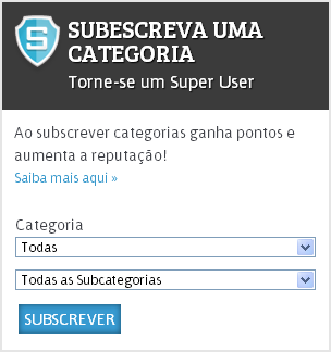 Subscrição de categorias