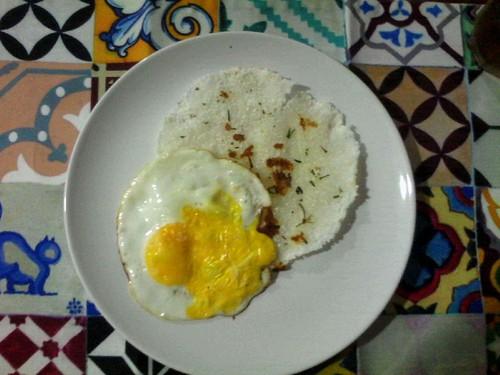 Crepe de Tapioca com ovo