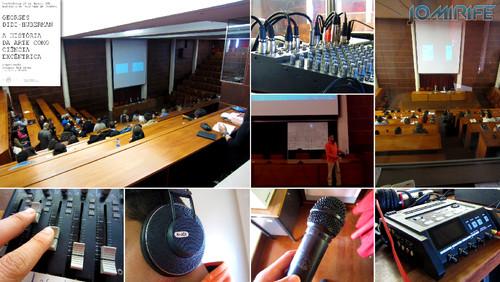 Realização Audiovisual da Conferência Georges Didi-Huberman: História da Arte como Ciência Excêntrica, em Coimbra, Portugal [en] Audio-visual production of the conference Didi-Huberman: Art History as Science Eccentric
