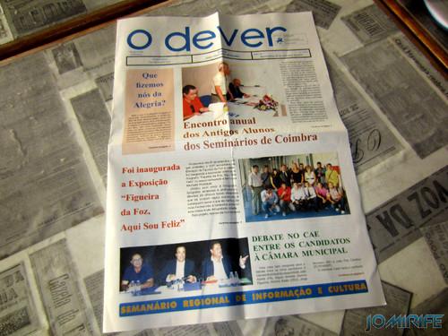 Notícia sobre a Exposição coletiva de Fotografia «Figueira da Foz, aqui sou feliz» no jornal «O Dever» - Jornal