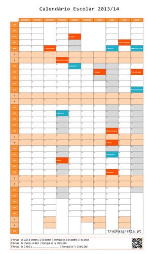 Coloquei as datas dos intervalos escolares (ex: Páscoa, Carnaval) e