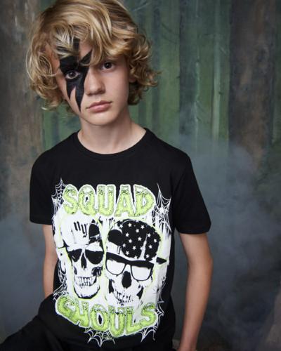 Primark Halloween Kids 2b ghouls glow tee black, E