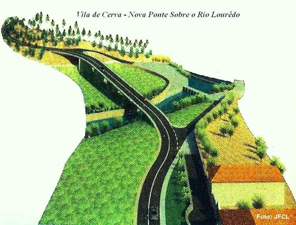 Cerva - Nova Ponte das Casas Novas - Rio Lourêdo.