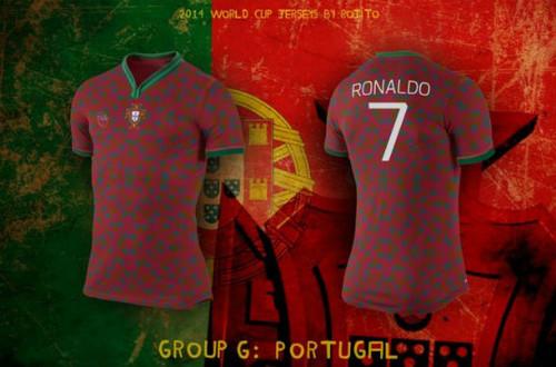 0e673c88207ec Já tivemos ocasião de ver a camisola principal da Selecção Nacional para o  Mundial do Brasil