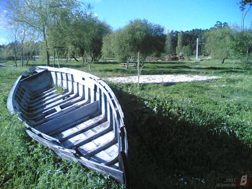 Parque do Lago em Maiorca: Barco em terra