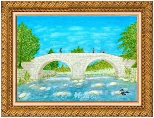 06 - Ponte Românica de Cerva Óleo Sobre Tela.JPG