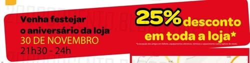 Novo Folheto | BRICOMARCHÉ | Penafiel especial Aniversário, de 7 novembro a 1 dezembro, 25% em toda a loja !!