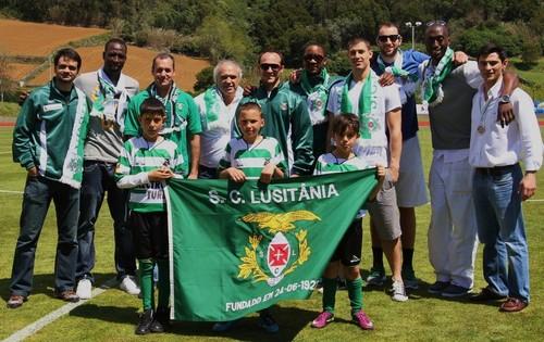 A equipa agraciada no passado domingo, no Estádio João Paulo II...