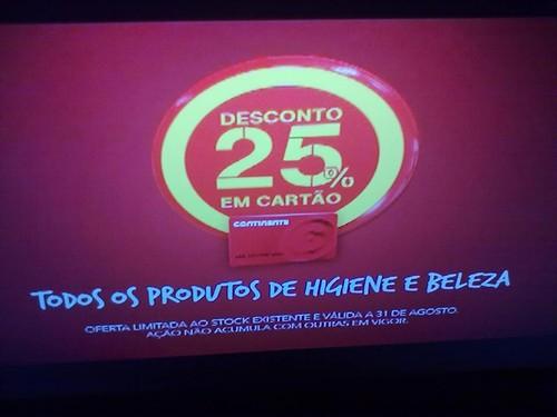 25% desconto em todos os Produtos de higiene e beleza Continente
