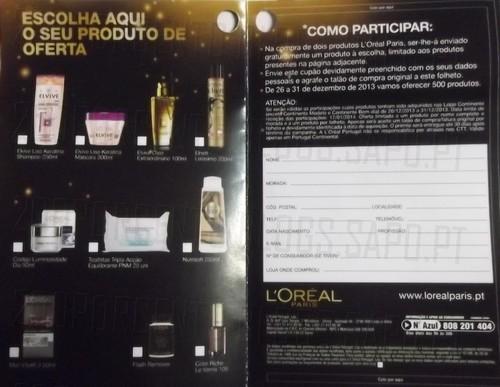 Oferta L'oréal | CONTINENTE | até 31 dezembro