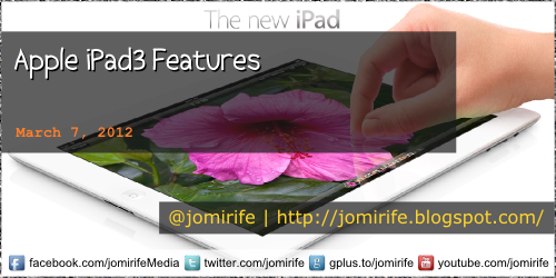 Blog: Apple iPad3 Features