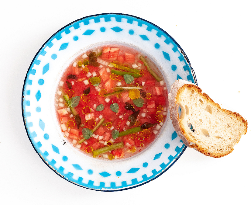 Alentejo style gazpacho with 'bladder wrack' (Fucu