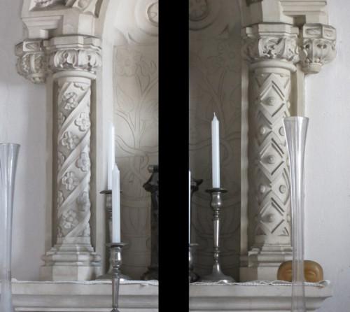 S. Antoninho dos Porcos colunas do nicho-retábulo