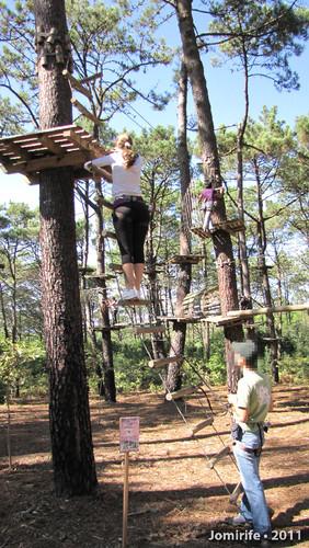 Parque Aventura: Subir para percurso mais alto