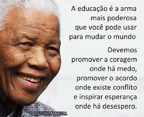educação, Nelson Mandela