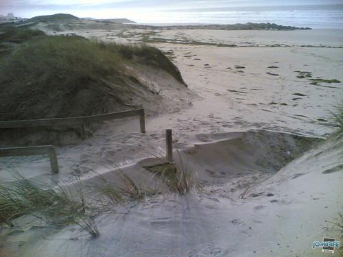 Temporal na praia do Cabedelo - Areia