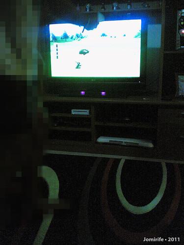 A jogar Golf na Nintendo Wii