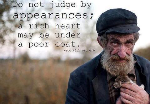 Não julgue pelas aparencias