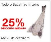 25% + 25% desconto | CONTINENTE | Bacalhau, até 20 dezembro