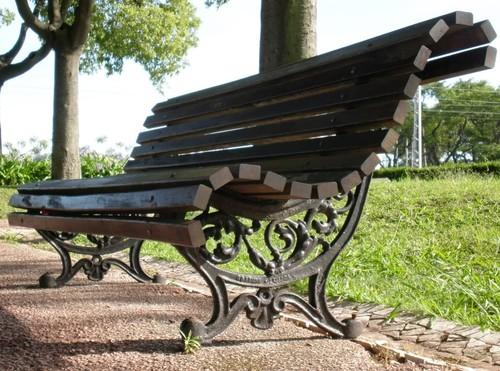 banco de jardim antigo : banco de jardim antigo:Fotos De Banco De Jardim Modelo Tamandua Com Reguas De 1 40m Banco