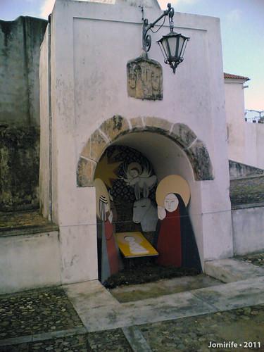 Presépio de cartão em Montemor-o-Velho