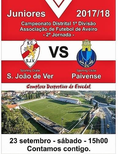 Juniores  SC S João de Ver vs Paivense