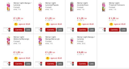 Nectar Light 1 Lt super Preço Continente 0,65€ até 30 Setembro
