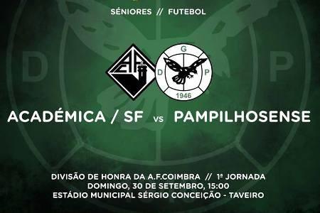 Académica SF - Pampilhosense antevisão 30-09-18.