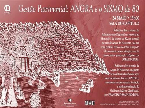 No Museu de Angra, com Jorge Forjaz e Maduro-Dias...