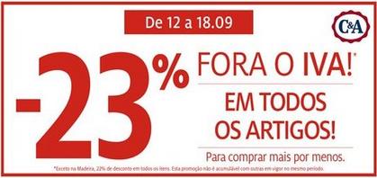 C&A 23% Desconto