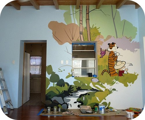 She s crazy and just when you think you ve reached the for Calvin and hobbes nursery mural