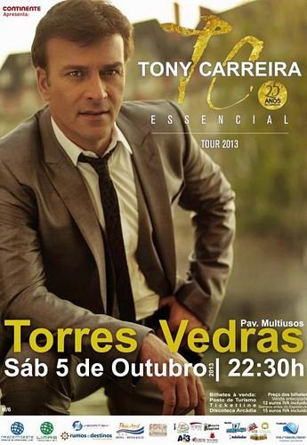 Concerto Tony Carreira Outubro Torres Vedras