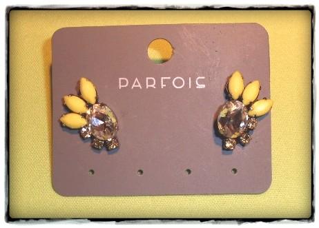 Brincos amarelos Parfois