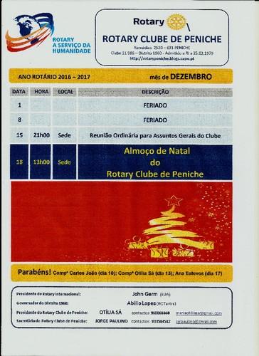 Programe de Rotary Club de Peniche - mês de Dezem