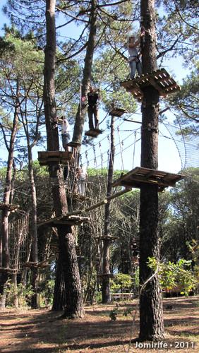 Parque Aventura: Lá pelo alto