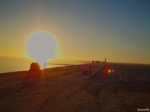 Pôr-do-sol no molhe da Figueira da Foz