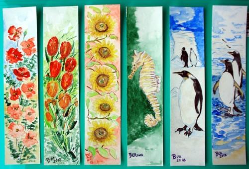 Marcadores de Livros: flores e animáis