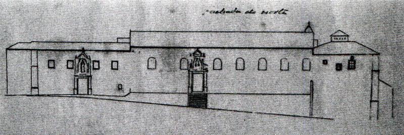 Convento de Santana Antiga fachada norte do conven