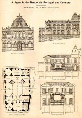 Fig. 5 - Projeto da Agência do Banco de Portugal