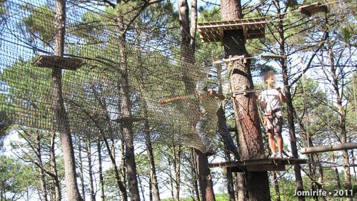 Parque Aventura: Passar pela rede