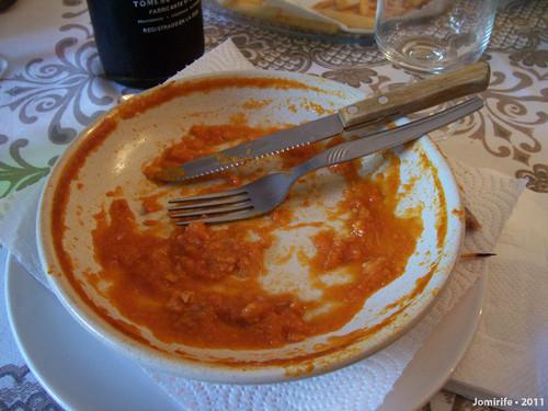 Francesinha em Bragança - Terminada de comer