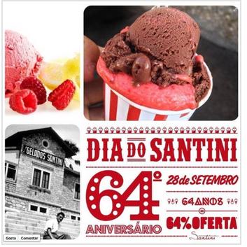 64% de desconto em gelados Santini