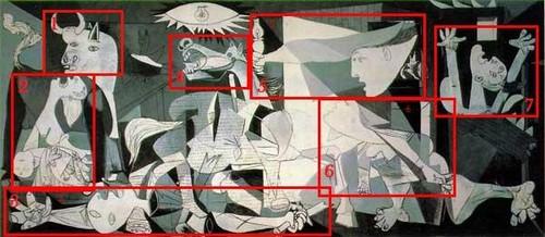 Guernica com divisões de elementos